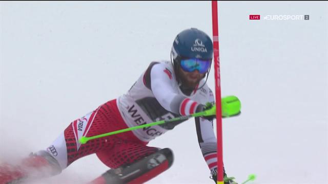 Relâché et très précis, Schwarz a facilement dominé la slalom du combiné