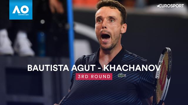Bautista Agut fait tomber Khachanov : Les temps forts du match