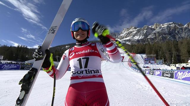 Impériale sur le bas, Siebenhofer a survolé Cortina pour s'offrir une première victoire