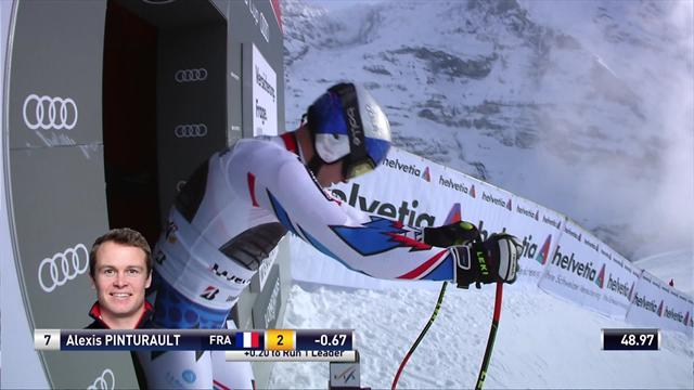 Pinturault secures podium in Wengen