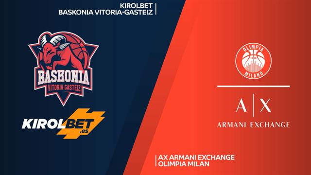 Highlights: Kirolbet Baskonia Vitoria-AX Armani Exchange Milano 80-75
