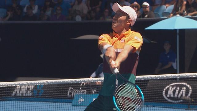 'Have you ever seen anything like that??' - Nishikori wins epic 27-shot rally
