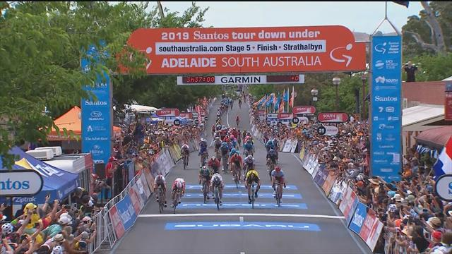 Ewan crosses first on Stage 5 - but DQ gives victory to Philipsen