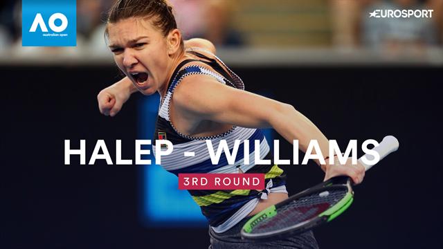 Open Australia 2019, Simona Halep-Venus Williams: Y en octavos Serena (6-2 y 6-3)