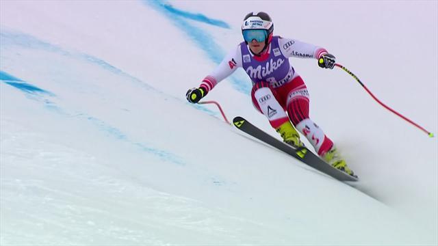 De l'engagement et une glisse parfaite : Siebenhofer s'offre le doublé à Cortina