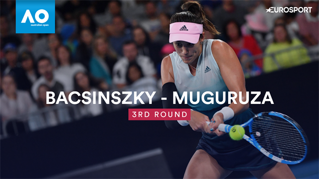 Open Australia 2019, Bacsinszky-Muguruza: Menos garra, más inteligencia (6-7 (5) y 2-6)