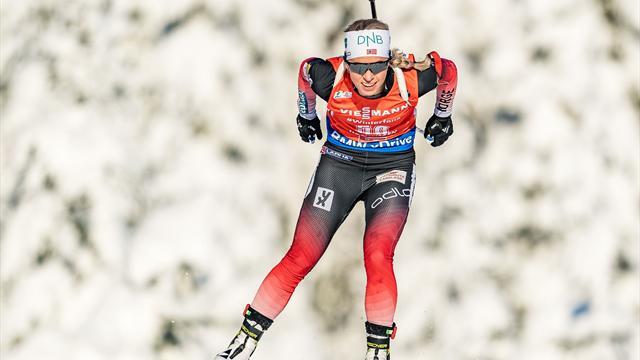 Første pallplass på nesten to år for Norges skiskytterkvinner