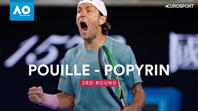 Highlights: Pouille beats Popyrin in five-set thriller