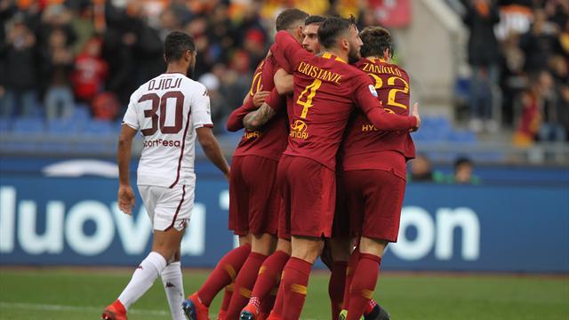 La Roma sale in zona Champions League: 3-2 al Torino in un match vibrante