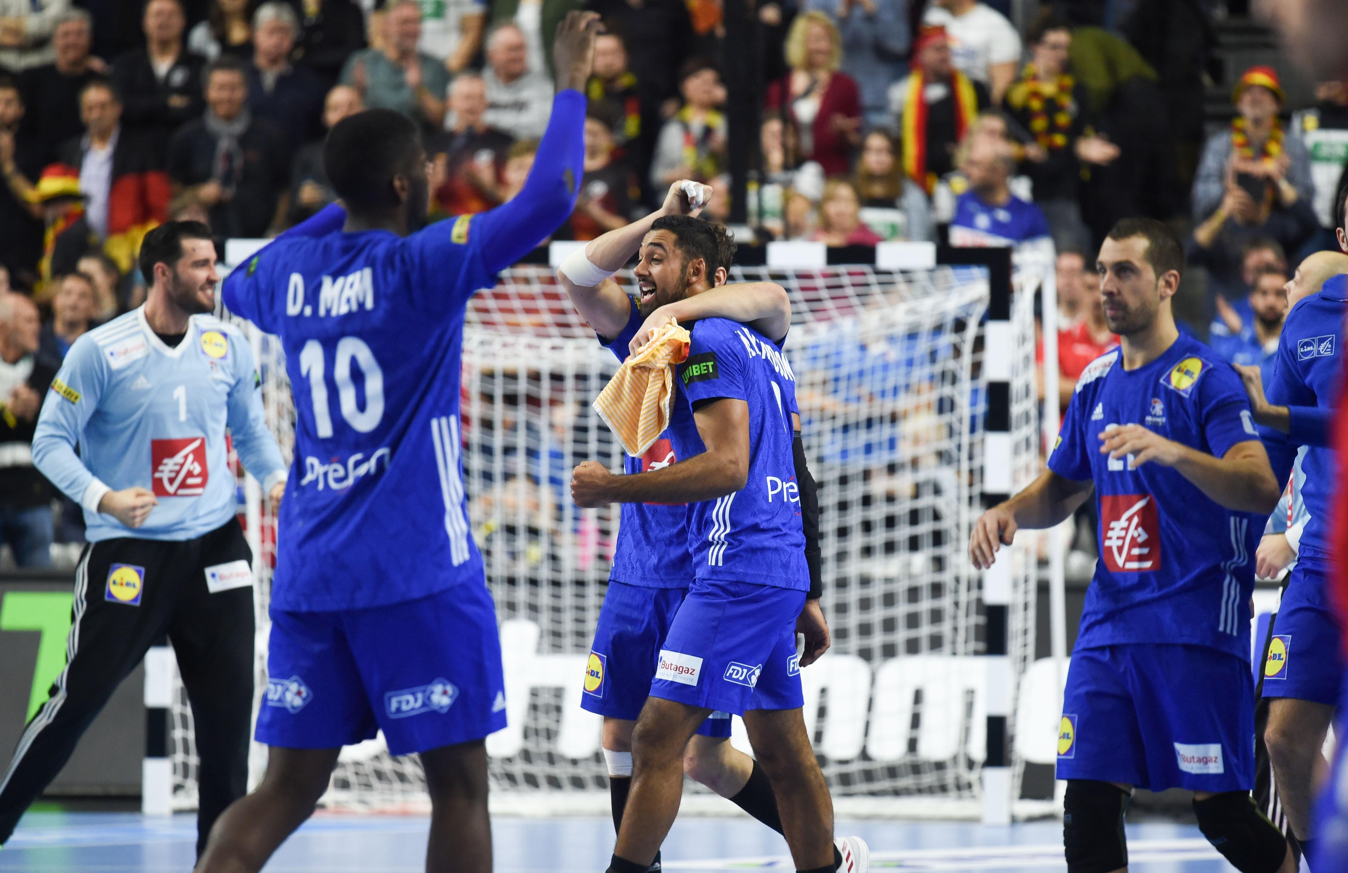 La joie des Bleus après la victoire contre l'Espagne - Mondiaux 2019