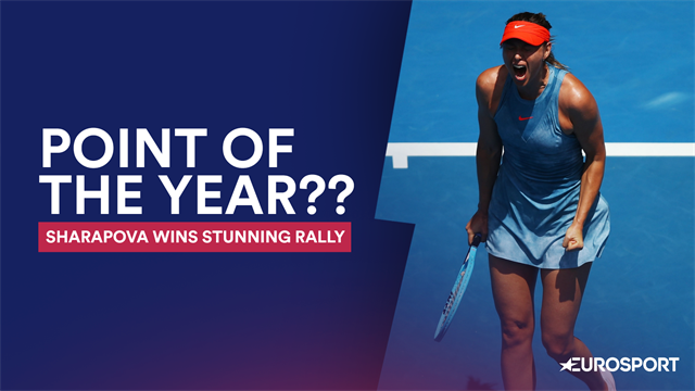 'One of the most extraordinary points you will ever see!' - Sharapova prevails in 22-shot rally