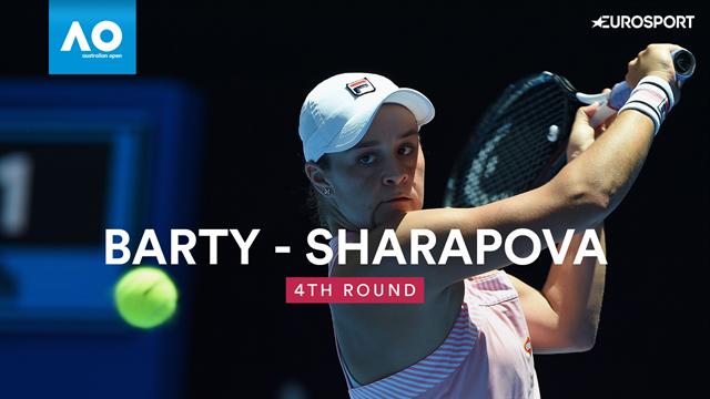 Du beau tennis, une remontée, une grosse frayeur : Barty a tout connu avant de mater Sharapova