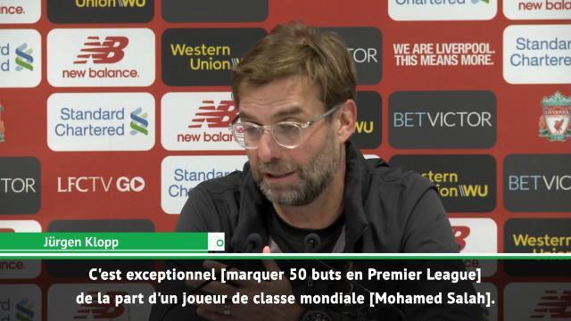 """Klopp : """"Les 50 buts de Salah ? C'est exceptionnel !"""""""