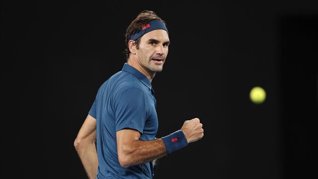 Avec ce magnifique revers de défense, Federer a eu le compas dans l'œil