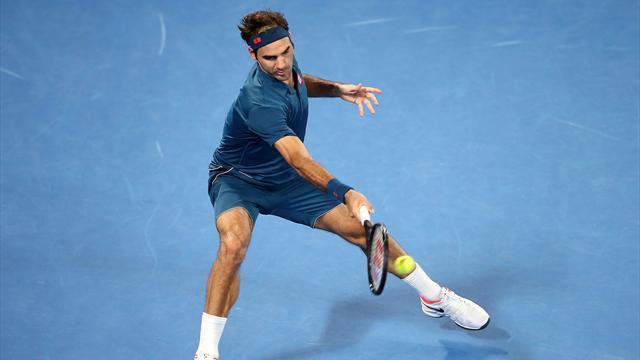 Avant de chuter, Federer a claqué le plus beau point du match