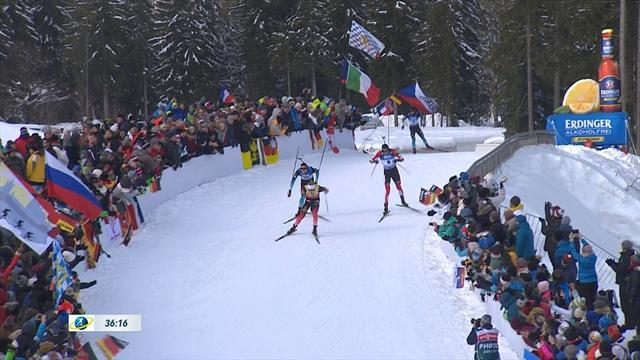 15km biathlon comes down to three-way sprint for the line in Ruhpolding