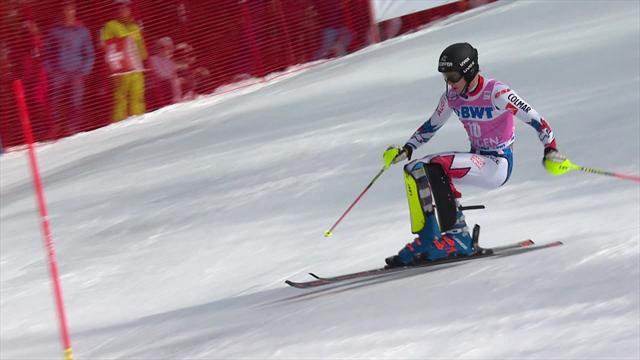 Rising star Noel beats big names to Wengen slalom title