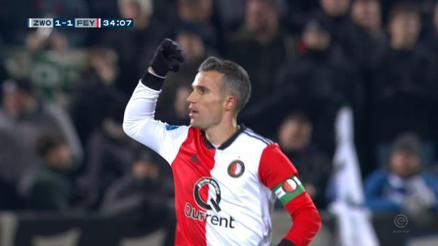 Eredivisie - Le magnifique coup franc de van Persie