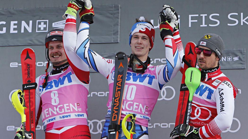Slalom In Wengen Clement Noel Holt Ersten Weltcupsieg Felix