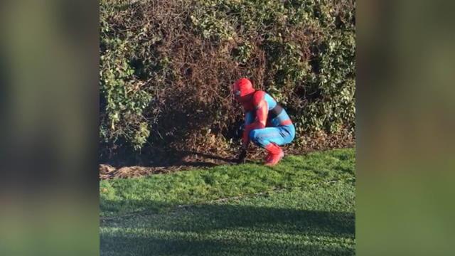 Leicester - Vardy s'entraîne déguisé en Spider-Man