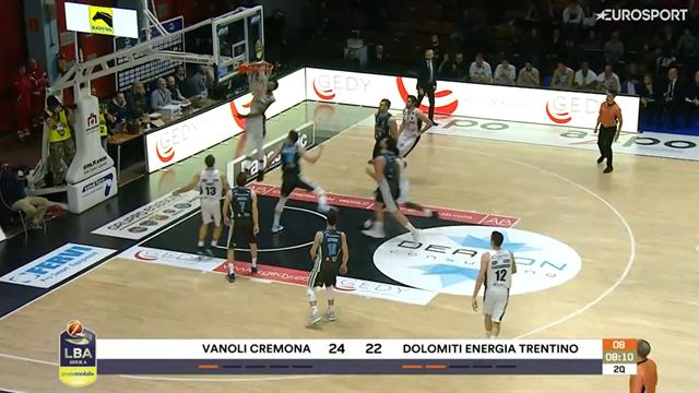 Marble accende il match tra Cremona e Trento con una schiacciata pazzesca