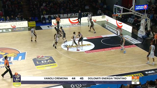Highlights: Vanoli Cremona-Dolomiti Energia Trentino 84-89