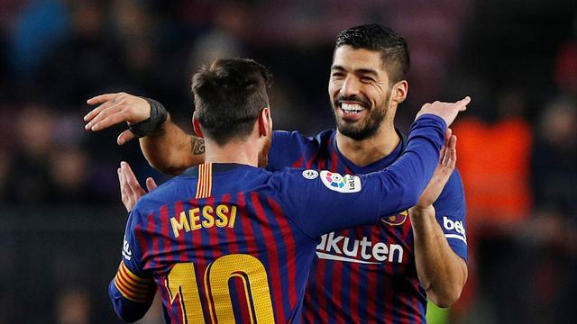 Suarez and Messi bail out Barca as they go five points clear at top