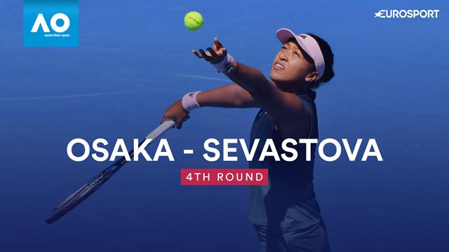 Osaka completes another comeback victory to beat Sevastova