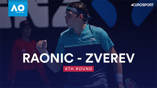 Australian Open: Raonic-Zverev 6-1 6-1 7-6, gli highlights