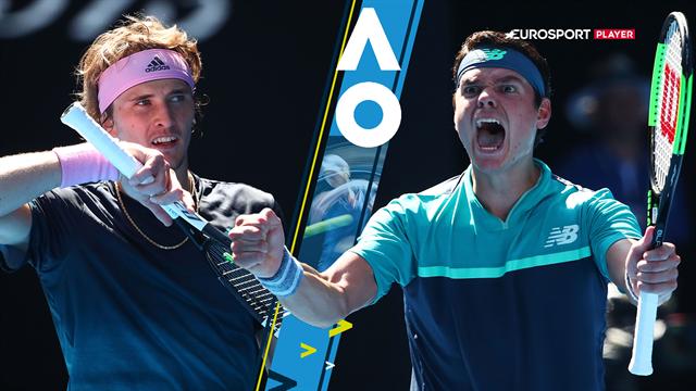Highlights: Raonic sender arrig Zverev ud af Australian Open