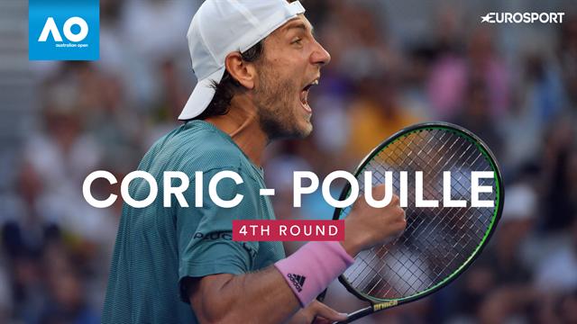 Open Australia 2019, Coric-Pouille: Remontada y vuelta a unos cuartos (7-6(4), 4-6, 5-7 y 6-7( -2-)