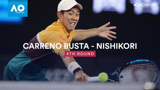Australian Open: Nishikori-Carreno Busta 6-7 4-6 7-6 6-4 7-6, gli highlights