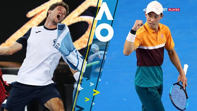 Highlights: Nishikori videre Australian Open efter dramatisk tiebreak