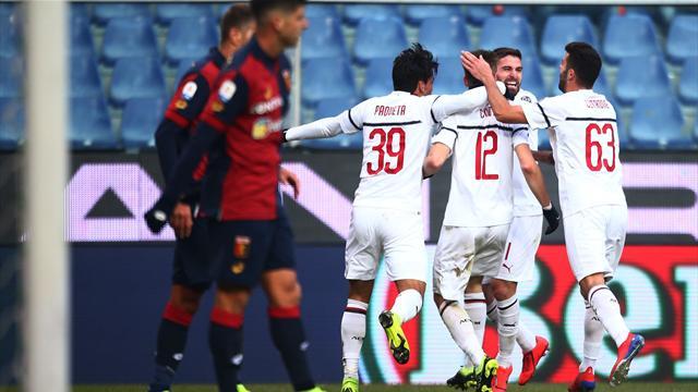 Milan, il Ferraris porta bene: Borini e Suso stendono il Genoa, rossoneri quarti