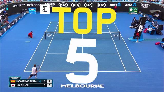Open Australia 2019, Top 5: Halep reina ante Serena y Carreño cuela una passing impresionante