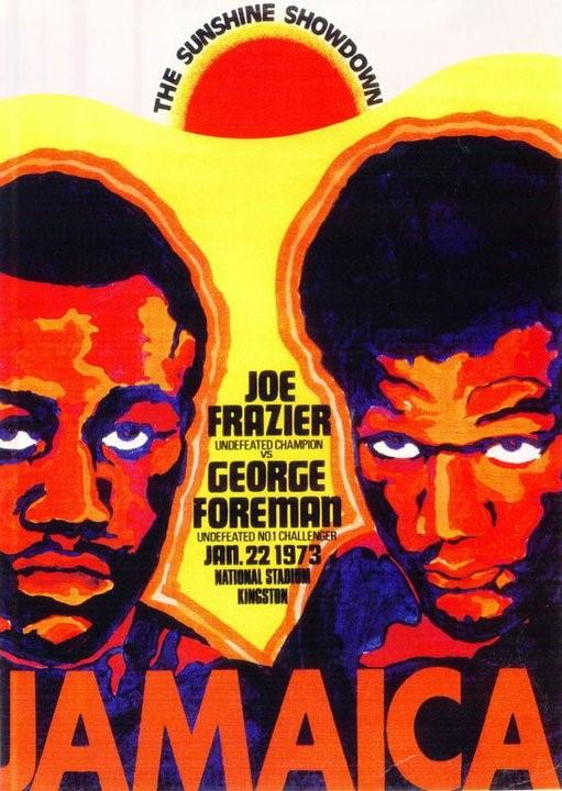 """L'affiche du """"Sundown Showdown"""" entre Frazier et Foreman"""