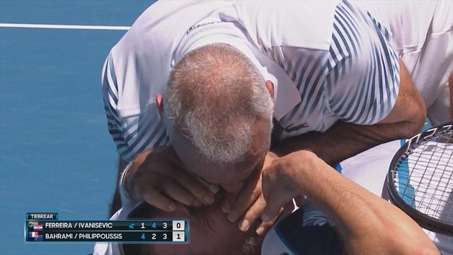 Bahrami abbatte Ivanisevic: ci vuole la respirazione bocca a bocca!
