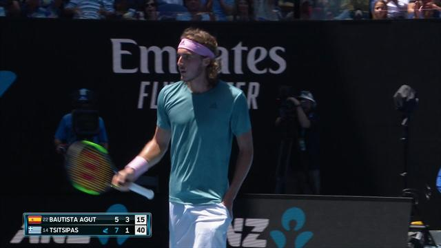 'Quite frightening timing' - Tsitsipas finds his groove on Rod Laver Arena