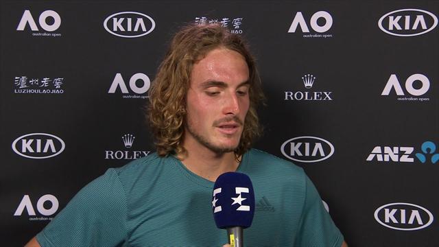 """Tsitsipas a Eurosport: """"È stata una sfida durissima, sono contento di aver retto"""""""