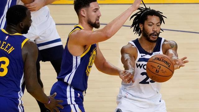 Los Warriors derrotan a los Lakers con récord de Thompson