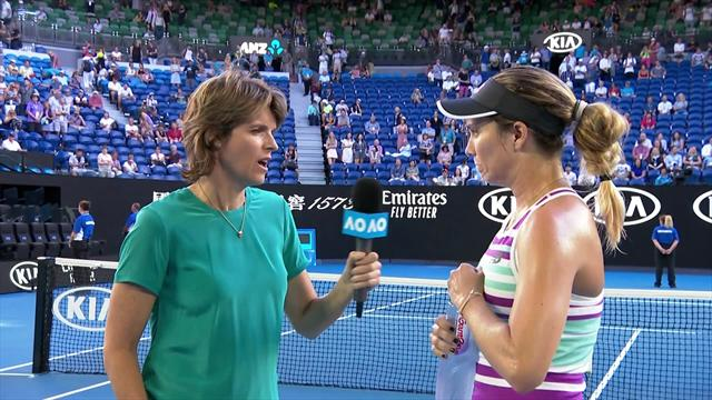 Collins - 'I love it on Rod Laver Arena, I feel so at home here'