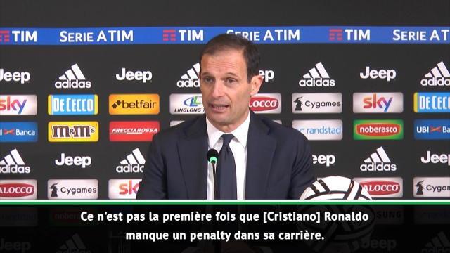 """20e j. - Allegri : """"Ce n'est pas la première fois que Ronaldo manque un penalty"""""""