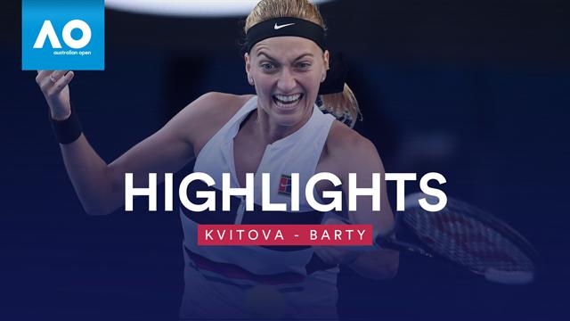 Saustarke Vorstellung: Kvitova stoppt Barty