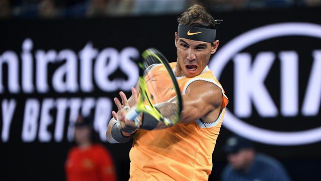 Open Australia 2019: Derechazo paralelo de Nadal que giraba a ¡3.410 revoluciones por minuto!