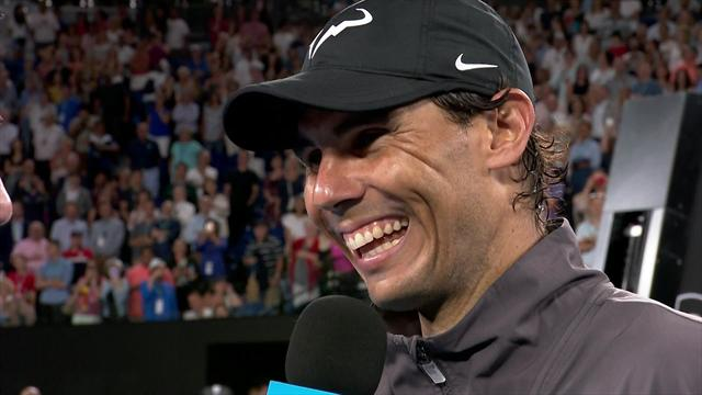 Nadal jokes with McEnroe in hilarious post-match interview