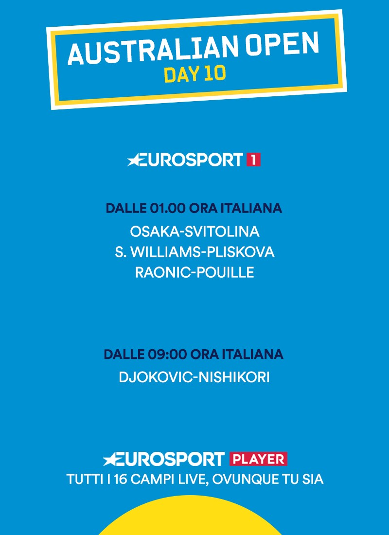 Order of Play - AO - Day 10