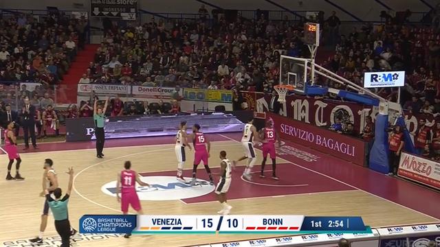 Highlights: Umana Reyer Venezia-Telekom Baskets Bonn 69-73