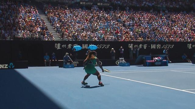 The moment that turned the match? Serena injures ankle on match point
