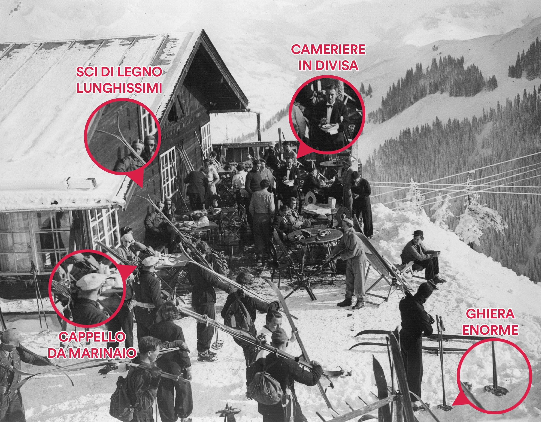 Le gare sulla Streif cominciano nel lontano 1931 con la combinata, in un contesto molto pittoresco rispetto a quanto siamo abituati a vedere oggi.