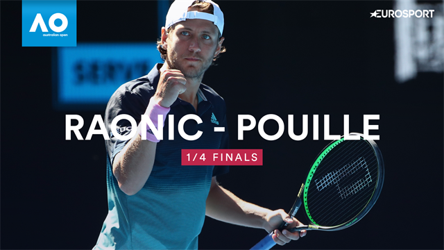 Highlights: Pouille defeats Raonic in four to make semis